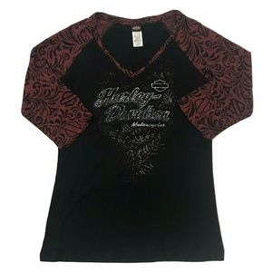 Harley Davidson West Indies 3/4 Sleeve Shirt Tee